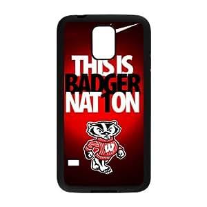 DIY Case 17 Sports NCAA Wisconsin Badgers Samsung Galaxy S5 Case-Just DO It