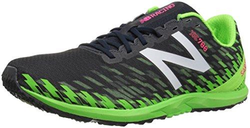 New Balance Men's 700v5 Rubber Spike Cross-Country-Running-Shoes, Thunder/Energy Lime, 9 D US