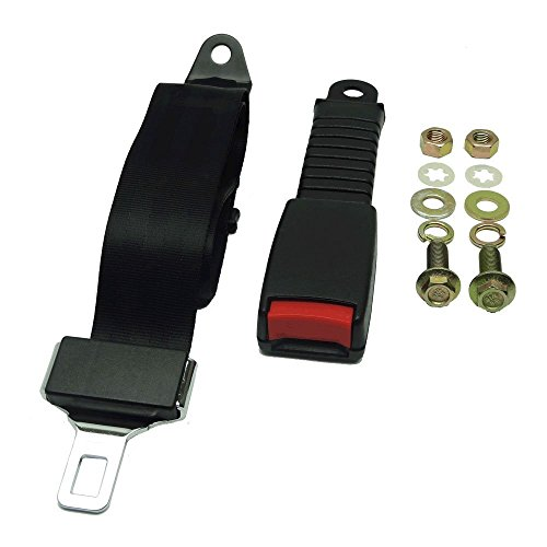 Nonretractable Lap Belts (Universal Strap Kit for Club Car, EZGO & Yamaha Golf Cart)