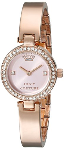 - Juicy Couture Women's 1901226 Luxe Couture Crystal-Accented Brass-Plated Stainless Steel Bangle Watch