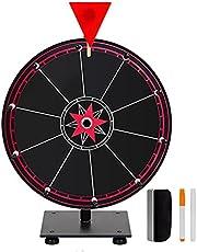 DUCUT 30 cm lyckohjul leksak färg hjul spel för lotterispel ordspel, inklusive suddgummi och markeringspenna för spelaktiviteter med penna och suddgummi karneval spel lottery roterande platta