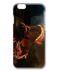 iCustomonline Case for iPhone 6 3D, Fire Horse Ultimate Protection Case for iPhone 6 3D