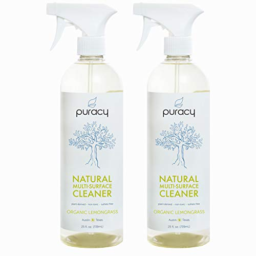 Puracy Natural All Purpose Cleaner, Streak-Free Household Multi-Surface Spray, 25 Ounce (2-Pack)