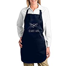 "Attitude Aprons Fully Adjustable ""I Do What I Want"" Apron With Pocket"