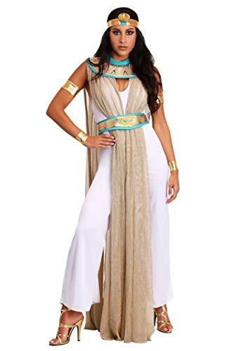 Fun Costumes Women's Cleopatra Pantsuit Large White -