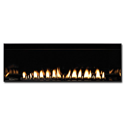 Hearth Vent - American Hearth Boulevard 48-Inch Vent Free Fireplace with Black Porcelain Liner - Natural Gas