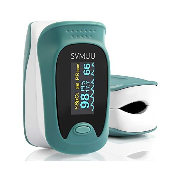 SVMUU Pulsossimetro, Ossimetri Professionale Portatile con Display LCD, Misura in 6 Secondi, per La Frequenza del Polso… 1 spesavip