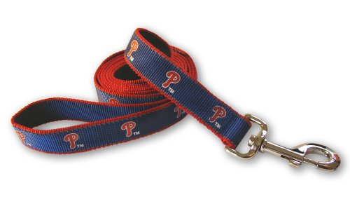 MLB Philadelphia Phillies Reflective Dog Leash, Medium/Large