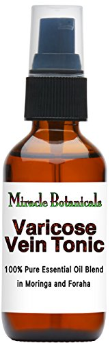 Miracle Botanicals Varicose Vein Tonic - Essential Oil Blend - 100% Pure Therapeutic Grade Essential Oils and Carrier Oils - 60ml/2oz.