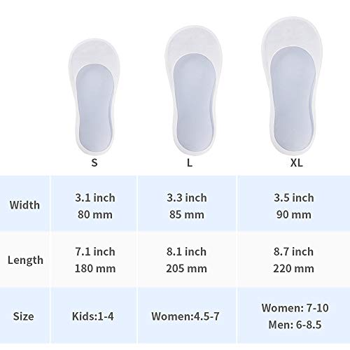 Silicone Gel Moisturizing Socks Spa Socks Remove Calluses Corns Dry Cracked Foot Skin Care Socks 3 Sizes (XL:Women:7-10 // Men:6-8.5) by Espcheap (Image #5)