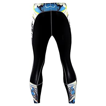 Yuntown Men Sports Leggings Compression Cool Dry Cycling Pants Running Baselayer