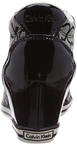 Alte Vero Jacquard Multicolore mehrfarbig Calvin granite black Sneaker Logo Ck Klein patent Donna 045qa