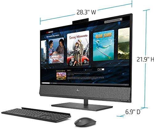 "HP Envy 32 Desktop 8TB SSD 64GB RAM Extreme (Intel Core i9-9900K Processor 3.60Ghz Turbo Boost to 5.00GHz, 64 GB RAM, 8 TB SSD, 32"" 4K UHD (3840 x 2160), Win 10) PC Computer All-in-One"