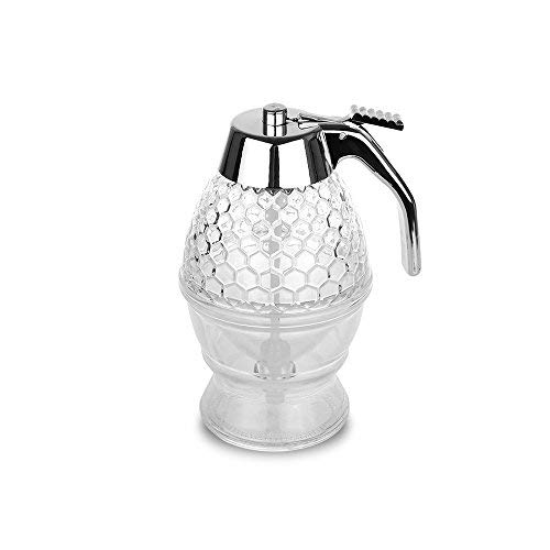 Honey Dispenser, AOZBZ 200ml Honey Dispenser Juice Bee Syrup Drip Bottle Container Cup Baking Tool