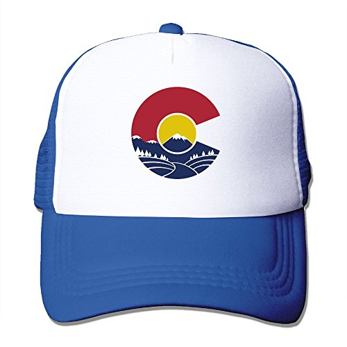 Hgjoafnkln Rocky Mountain Colorado Mesh Hat Baseball Caps Funny Grid Hat Adjustable Trucker Cap (Charm Colorado Rockies)