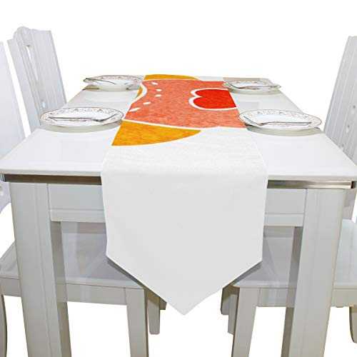 - Gednix Table Cover White Arctic Polar Bear Animal Modern Table Runner Traditional Table Cloths for Kitchen Dining Room Coffee Table Home Table Covers Table Overlays 13
