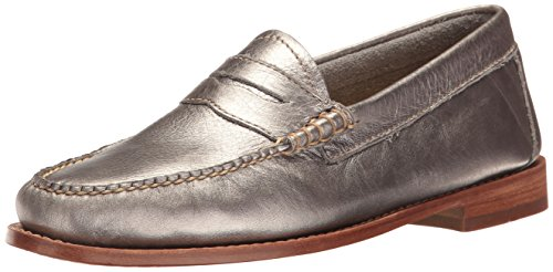 G.H. Bass & ZCLZjPWMou Women's Whitney Penny Loafer Silver