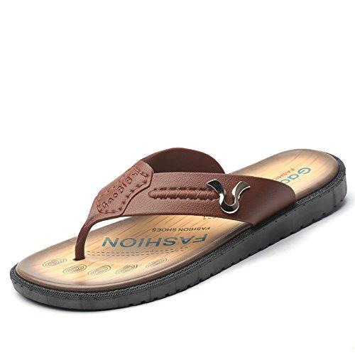 Komfortabel, Einfach, Mode, Freizeit, Antiskid Sommer Männer Beach Sandals,Brown,Eu44
