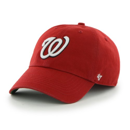 MLB Washington Nationals Cap, Red, Large