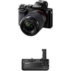 Sony a7K Full-Frame Interchangeable Digital Lens Camera with 28-70mm Lens and VGC1EM Digital Camera Battery Grips