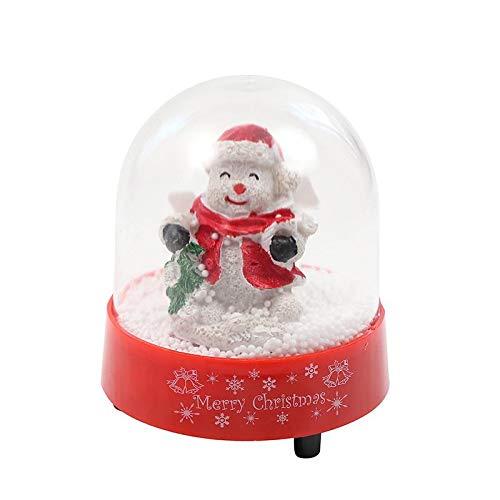Lightahead Christmas Musical Snow Globe with Snowman Inside, Falling Snowflakes