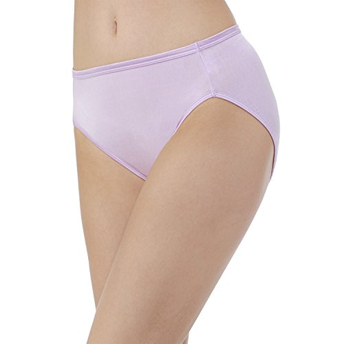 Vanity Fair Women's Illumination Hi Cut Panty 13108, Whisper, 2X-Large/9