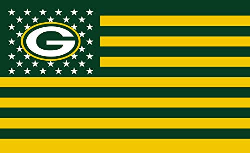 - GF-sports store Championship Flag - NFL Flag Sewn 3x5 Foot Brass Grommets Brightly Colored Team Graphic - Canvas Header and Double Stitched (Green Bay Packers)