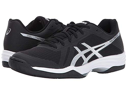 - ASICS Womens Gel-Tactic 2 Volleyball Shoe, Black/Silver/White, 8.5 Medium US