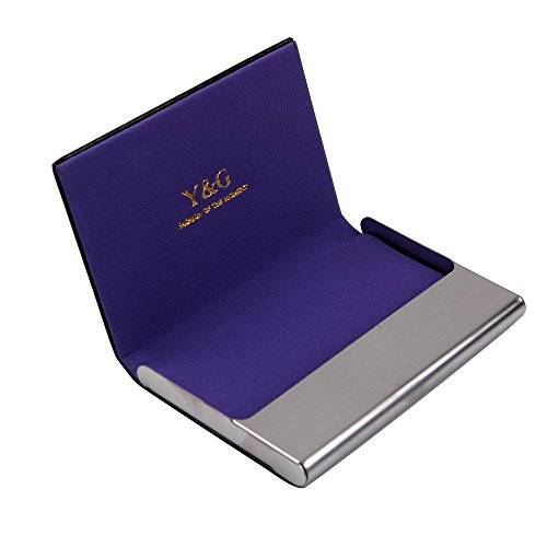 (Y&G CC1003 Purple Solid Romance Fashion Fantastic Accessories Name Card Holder Popular Mens Gift)