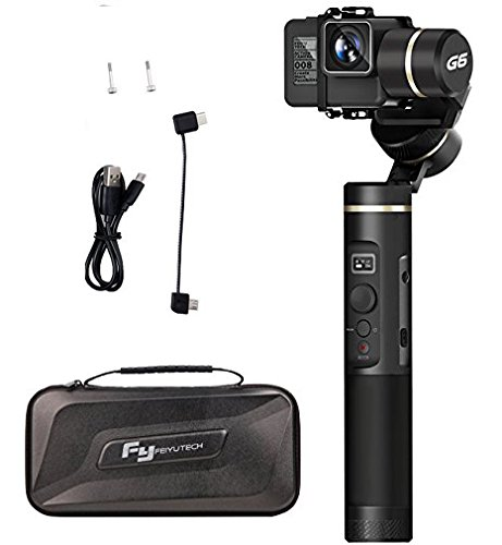 Feiyu G6 3-Axis Handheld Gimbal for GoPro Hero 6/5/4/3/Session, Sony RX0, Yi Cam 4K, AEE Action Cameras of Similar Size (Updated Version of G5) - Splash Proof