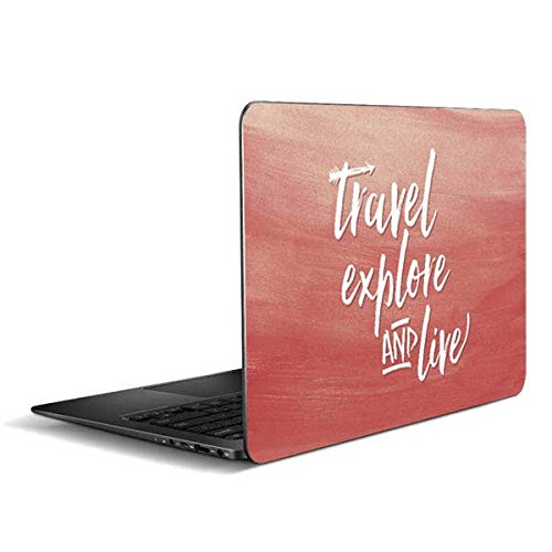 Skinit Illustration Art Zenbook UX305FA 13.3in Skin - Travel Explore and Live Design - Ultra Thin, Lightweight Vinyl Decal Protection