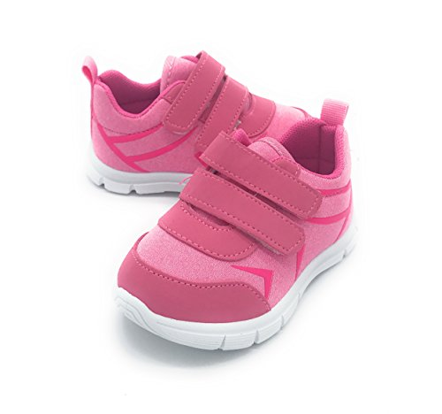Fuchsia Berry - Blue Berry EASY21 Girl Shoes Fashion Comfy Cute Baby Toddler Sneakers (8 M US Toddler, Pink1201)