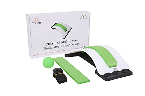 Best Arched Back Stretcher As Seen Doctors TV - CHISOFT (2nd Edition) Lumbar Stretching Device + Extra Cushion Foam + Trigger Point Massage Ball, Improve Posture, Sciatica Back Pain Relief by CHISOFT (Image #8)