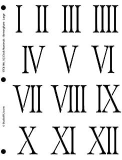 Clock Numerals Stencil By StudioR12