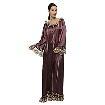 Lea Brown Casual Jalabiya For Women