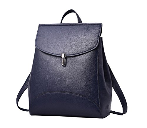 Casual Purse Fashion School Leather Backpack Crossbady Shoulder Bag Mini Backpack for Women & Teenage Girls (Blue) by BBPPDD (Image #8)