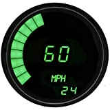 Intellitronx M9222G LED Digital Speedometer, Green/Black