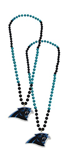 Official National Football League Fan Shop Authentic NFL Team Party Mardi Gras Custom Tailgate Beads 2-pack (Carolina Panthers)