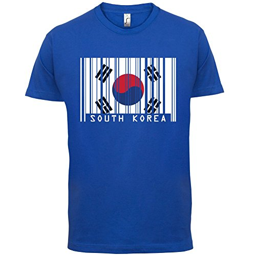 South Korea / Südkorea Barcode Flagge - Herren T-Shirt - Royalblau - XL