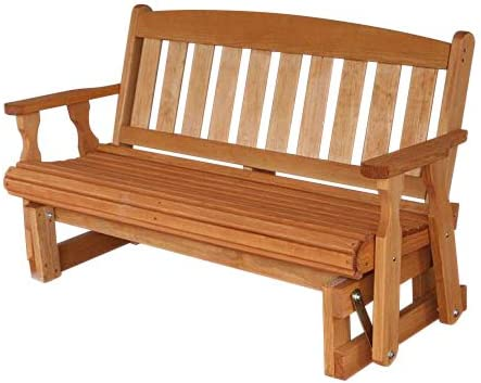 Amish Heavy Duty 800 Lb Mission Pressure Treated Porch Glider 4 Foot