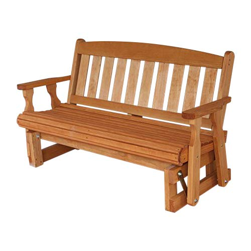 - Amish Heavy Duty 800 Lb Mission Pressure Treated Porch Glider (5 Foot, Cedar Stain)