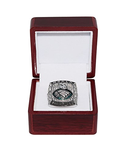 Philadelphia Eagles  Nick Foles  2018 Super Bowl Lii World Champions  Mvp Award  Rare   Collectible Replica National Football League Silver Nfl Championship Ring With Cherrywood Display Box