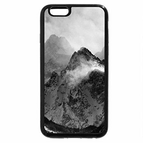 iPhone 6S Case, iPhone 6 Case (Black & White) - fantastic winter mountainscape