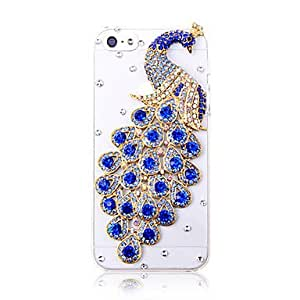 DUR Fashionable Zircon Peacok Pattern Hard Case for iPhone 5/5S(Assorted Colors) , Purple