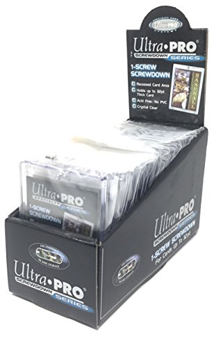 25 Ultra Pro 1 Screw Down Holders - Fits up to 32pt Cards - 25 Individually Sealed Holders