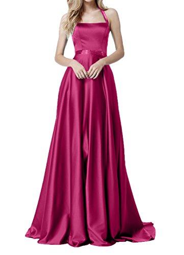 Satin Festlichekleider Cocktailkleider Damen Rock Abendkleider Pink Charmant Bodenlang Traube Ballkleider w4x0qXA1E