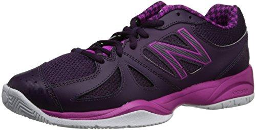 New Balance Women's WC696 Tennis Shoe,Black/Pink,6.5 D US