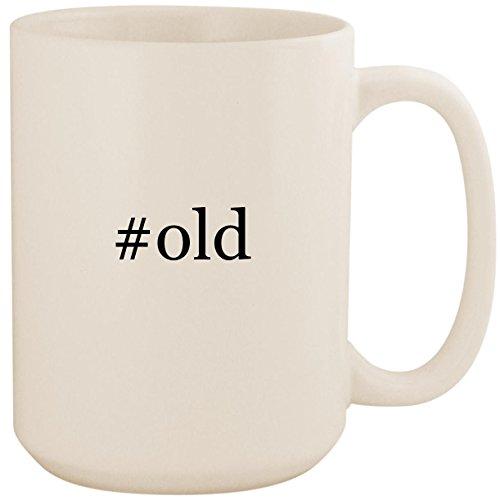 #old - White Hashtag 15oz Ceramic Coffee Mug Cup