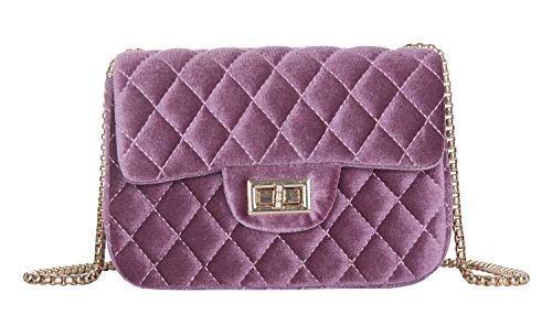 Onfashion Women's Classic Quilted Crossbody Bag Velvet Party Bag Shoulder Handbags ()