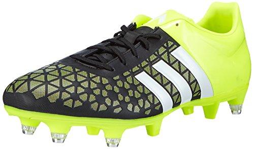 adidas Control Low SG - zapatillas de fútbol de material sintético hombre Multicolor (Core Black/Ftwr White/Solar Yellow)